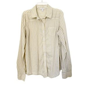 a pea and a pod | Women's Striped Button Top